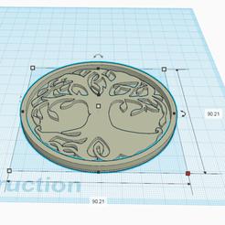 1.png Télécharger fichier STL gratuit DESSOUS DE VERRE ARBRE DE VIE • Objet pour impression 3D, oasisk