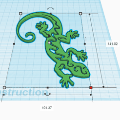 Download free 3D printer files TRIBAL LEZARD, oasisk