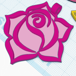 Descargar archivos STL gratis Colgante Rosa 4, oasisk