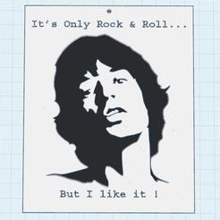 0.png Download free STL file Mick Jagger • 3D printing template, oasisk