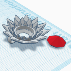 Télécharger modèle 3D gratuit Pendentif Diamant sur Fleur, oasisk