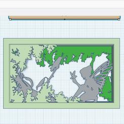 1.png Télécharger fichier STL gratuit Décor 3D à cadres_Fée • Design imprimable en 3D, oasisk
