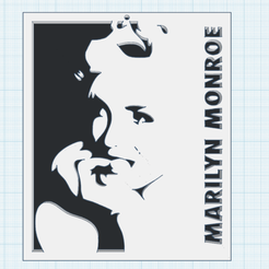 0.png Télécharger fichier STL gratuit Marilyn 1 • Objet pour imprimante 3D, oasisk