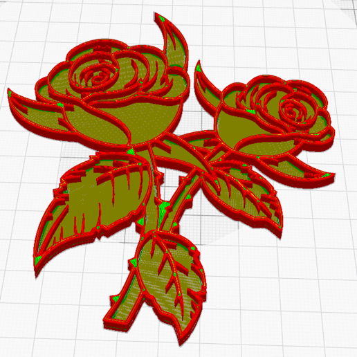 Download Free STL File WALL ROSE ・ Cults