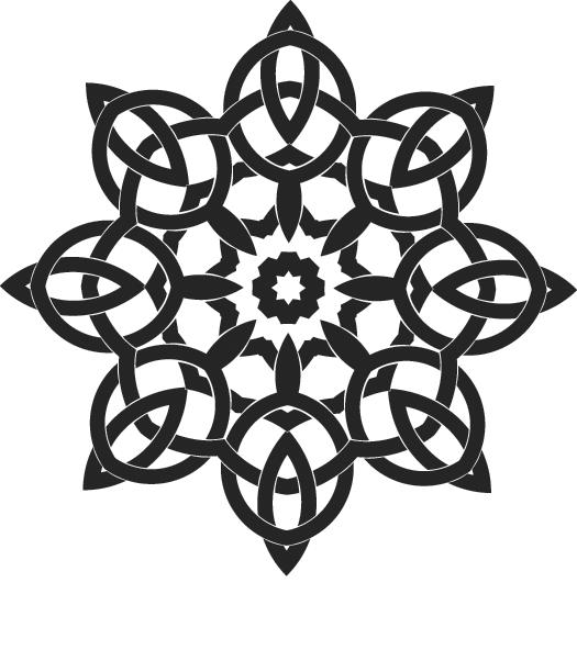 2.png Télécharger fichier STL gratuit Forme florale de noeuds celtes • Design pour imprimante 3D, oasisk