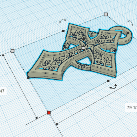 Download free 3D print files Celtic Cross Pendant, oasisk