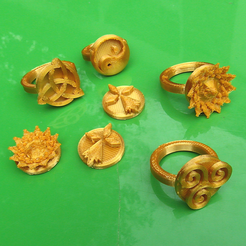 Download free 3D printer designs RINGS, oasisk