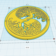 Download free 3D printing templates Wall decoration Yin Yang Tree of Life, oasisk