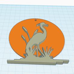 Descargar archivo 3D gratis GARZA AL ATARDECER, oasisk