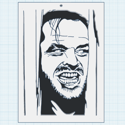 0.png Download free STL file Jack Nicholson • 3D print template, oasisk