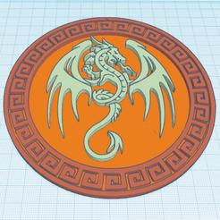 Descargar Modelos 3D para imprimir gratis Dragón enmarcado, oasisk