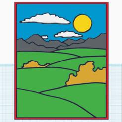paysage-puzzle0.png Télécharger fichier STL gratuit Paysage en puzzle • Design à imprimer en 3D, oasisk