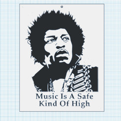 0.png Download free STL file Jimi Hendrix • 3D printing design, oasisk