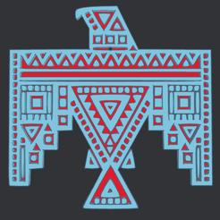 0.png Download free STL file Aztec Eagle • 3D printable template, oasisk
