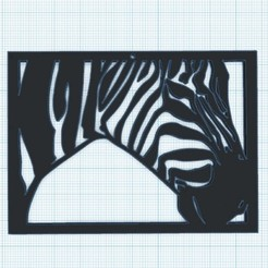 Descargar diseños 3D gratis Decoración de paredes ZEBRE, oasisk