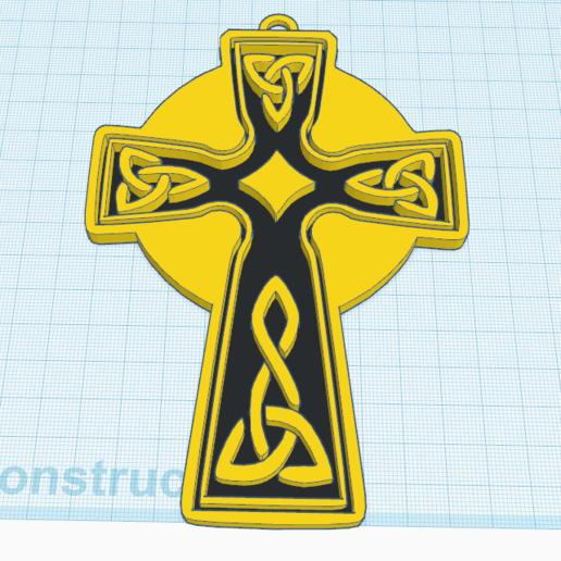 0.png Télécharger fichier STL gratuit Croix celtique modèle 3 • Modèle pour impression 3D, oasisk