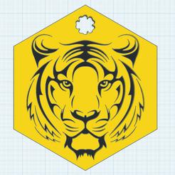 Imprimir en 3D gratis Tiger Decor, oasisk
