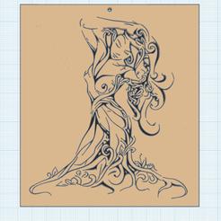 0.png Télécharger fichier STL gratuit La Fille de l'arbre • Modèle pour imprimante 3D, oasisk