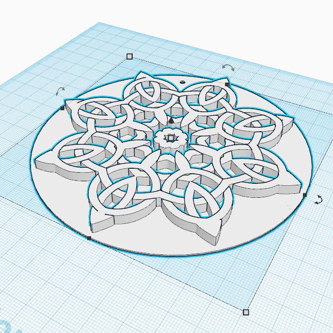 0.png Télécharger fichier STL gratuit Forme florale de noeuds celtes • Design pour imprimante 3D, oasisk