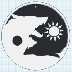0.png Télécharger fichier STL gratuit Yin Yang Loup • Objet à imprimer en 3D, oasisk