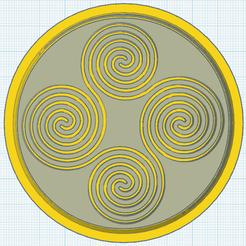 0.png Télécharger fichier STL gratuit Dessous de verre Triskel 3 • Design pour impression 3D, oasisk