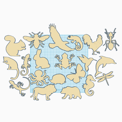 Descargar diseños 3D gratis Pegatinas de animales, oasisk