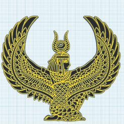 0.png Télécharger fichier STL gratuit Isis, la deesse egyptienne • Modèle imprimable en 3D, oasisk