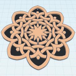 Descargar archivo STL gratis Mandala 9 • Diseño para imprimir en 3D, oasisk
