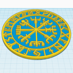 Descargar diseños 3D gratis Vegvisir, el talismán vikingo, oasisk