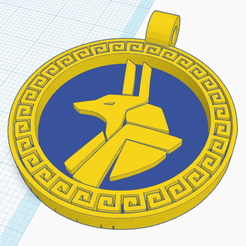 1.png Download free STL file Egyptian Medallion Anubis • Model to 3D print, oasisk