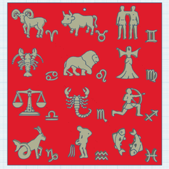 0.png Download free STL file The 12 Signs of the Zodiac v2 • 3D print model, oasisk