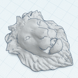 Download free 3D printing templates LION HEAD, oasisk