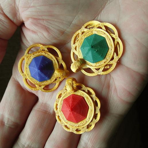 Download free 3D print files 3 DIAMOND PENDANTS ON CIRCLES, oasisk