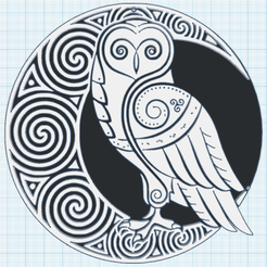 0.png Télécharger fichier STL gratuit Chouette lunatique • Plan pour imprimante 3D, oasisk