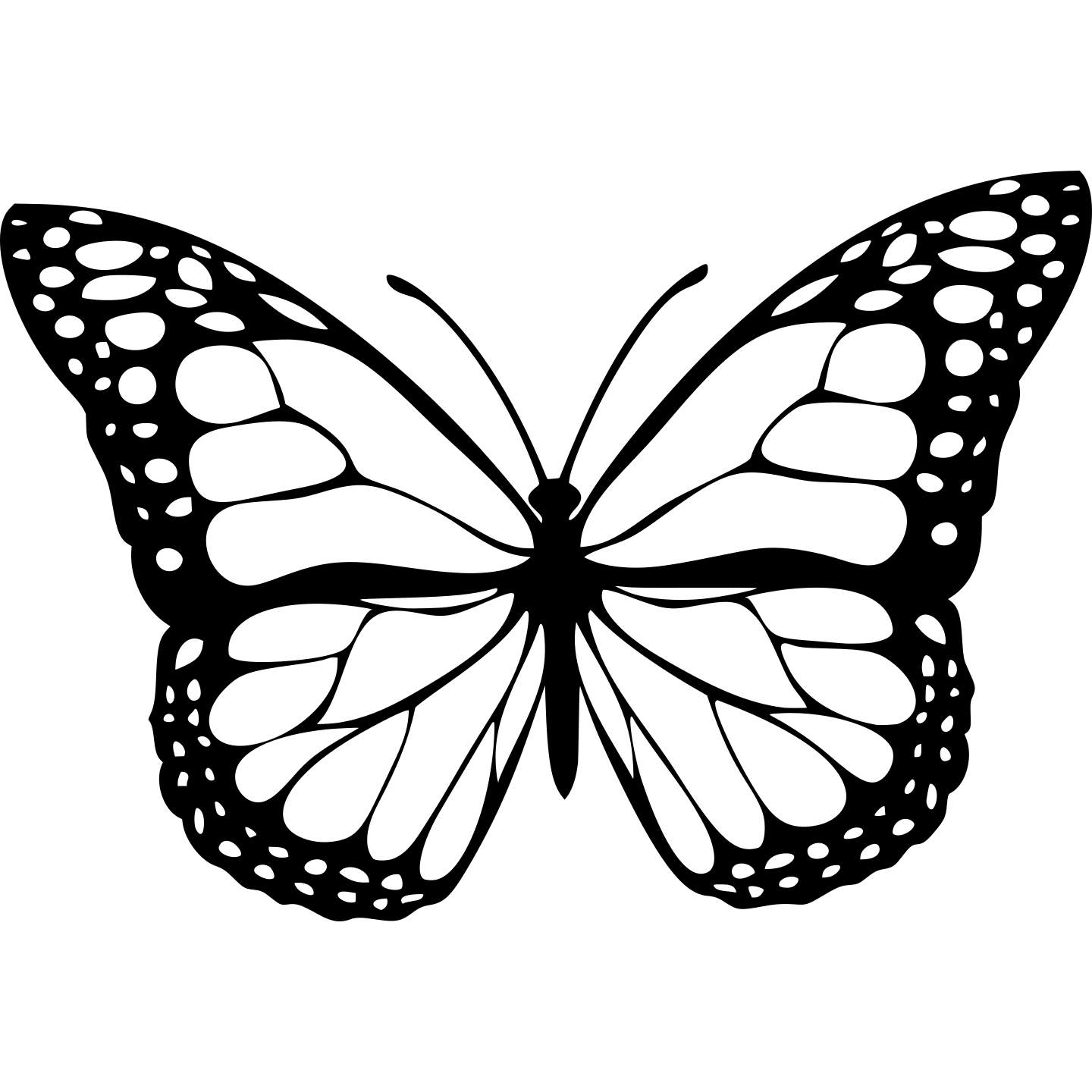 Butterfly1Black.png Download free STL file Monarch Butterfly • 3D print design, oasisk