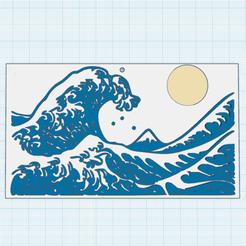 0.png Télécharger fichier STL gratuit La Vague • Design pour imprimante 3D, oasisk