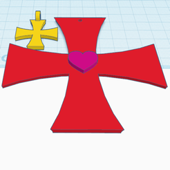 1.png Download free STL file The Knights Templar Cross • 3D print model, oasisk