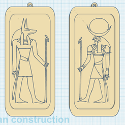 0.png Download free STL file Anubis and Ra, Gods of Egypt • 3D printer template, oasisk