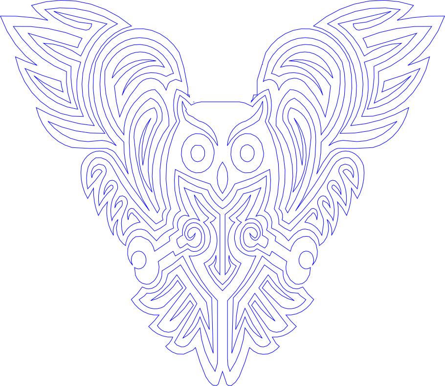 Celtic owl.png Download free STL file OWL OWL Pendant and Wall Decoration • 3D printing object, oasisk