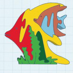 0.png Télécharger fichier STL gratuit Puzzle Poissons • Plan pour impression 3D, oasisk