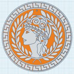 0.png Télécharger fichier STL gratuit Patricienne 2 avec Laurier • Design à imprimer en 3D, oasisk