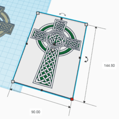 Descargar diseños 3D gratis Cruz Celta, oasisk