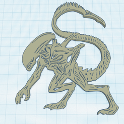 Download free 3D printer templates ALIEN, oasisk