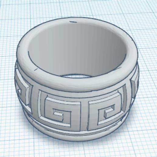 Download free 3D printer templates Aztec Ring, oasisk