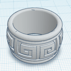 Download free 3D printer templates Aztec Ring, oasisk