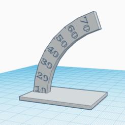 Imprimir en 3D gratis Prueba de salientes de 10 a 70°., oasisk