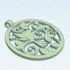Imprimir en 3D gratis Colgante de Pájaro, oasisk