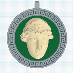 0.png Download free STL file Athena Pendant • Object to 3D print, oasisk