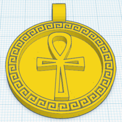 3_0.png Download free STL file Egyptian Medallion Cross Ankh • Template to 3D print, oasisk