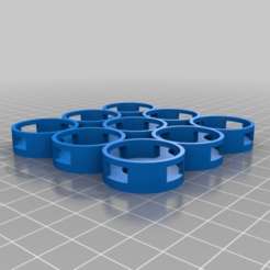 98a542096579f518aac747560a129985.png Download free STL file My 3x3 Customized Vallejo Bottle Organicer 24.5mm ID • Model to 3D print, bradblog